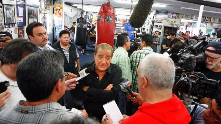 "Bob Arum blasts the idea of pros in the Olympics as ""absolutely insane"""