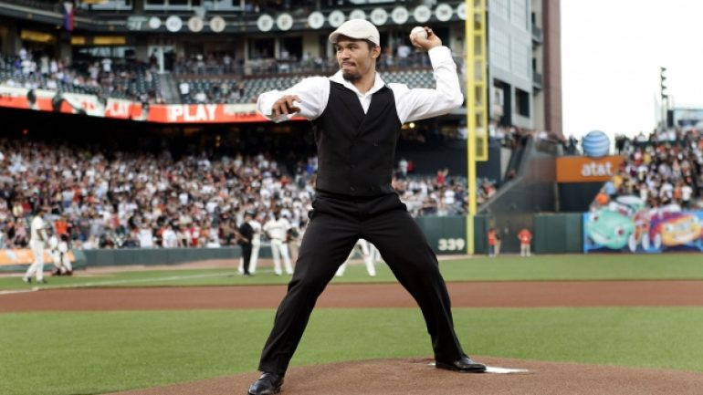 Pacquiao first pitch