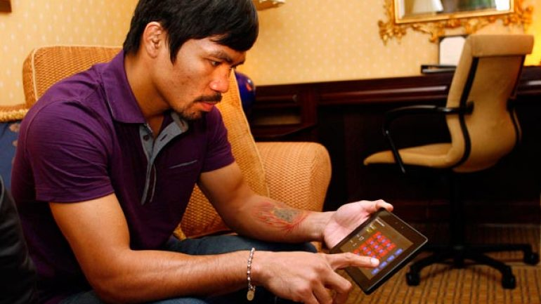 Pacquiao arrives in NYC