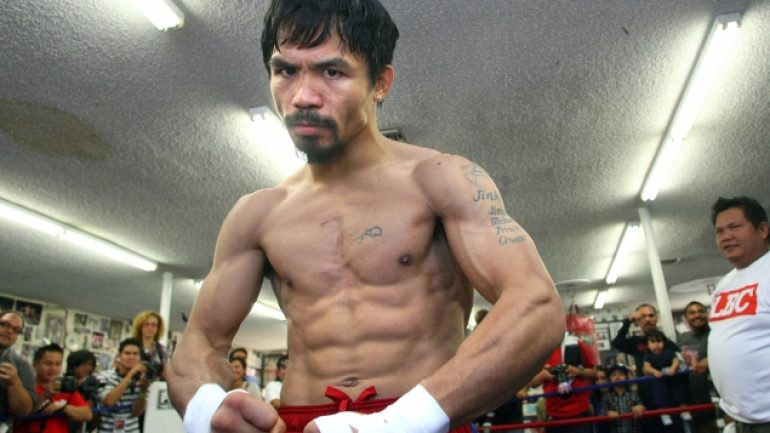 Pacquiao media workout