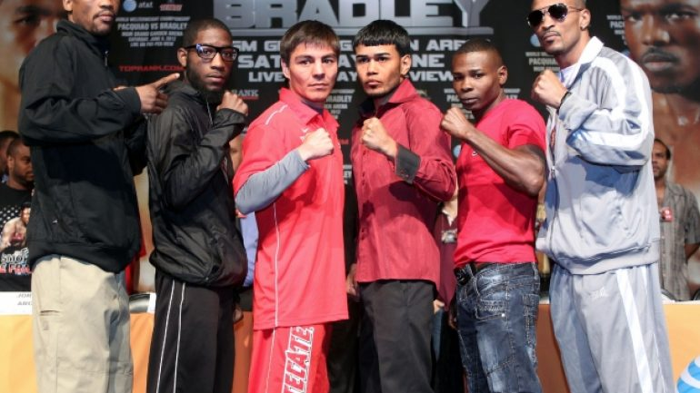 Pac-Bradley undercard press conference