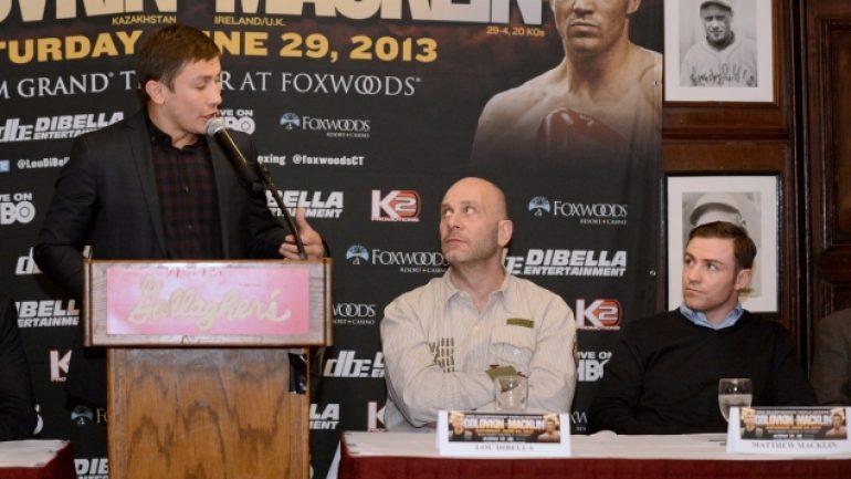 Golovkin-Macklin press conference