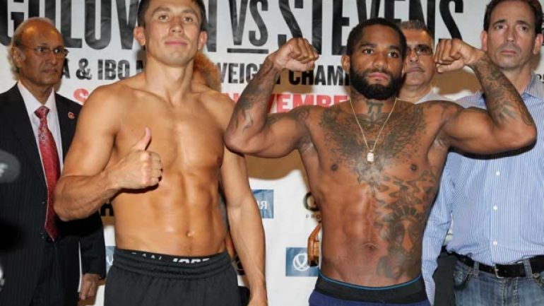 Golovkin-Stevens weigh-in