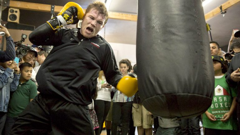 Photo gallery: Canelo Alvarez media workout