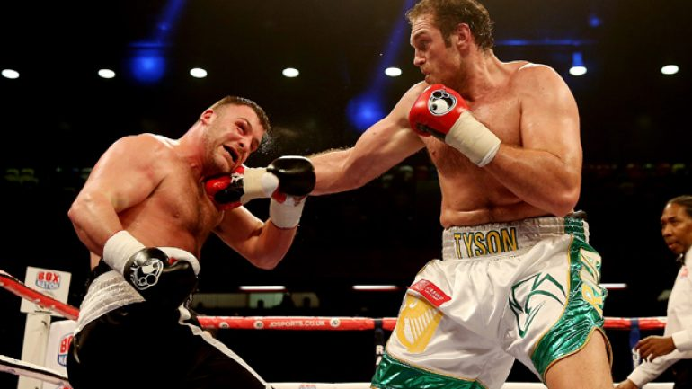 Tyson Fury stops Joey Abell in four, calls out Wladimir Klitschko