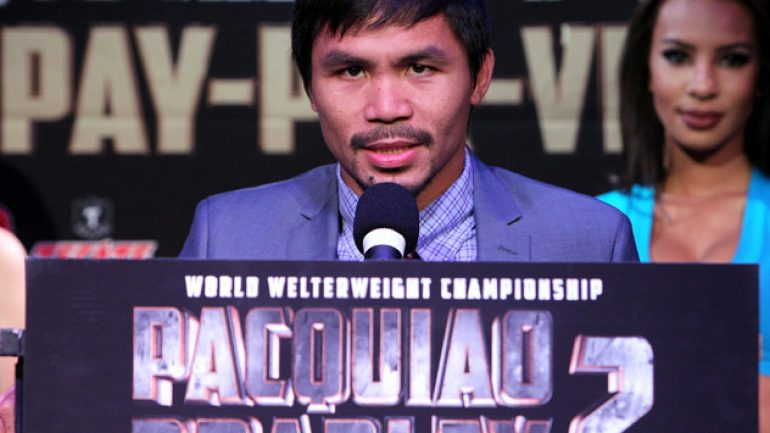 Manny Pacquiao: 'We know what we have to do to beat Tim Bradley'