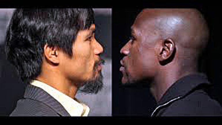 Manny Pacquiao to Floyd Mayweather: Call collect and say 'yes'
