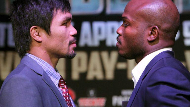 Repeat or revenge? Who wins Tim Bradley-Manny Pacquiao II?