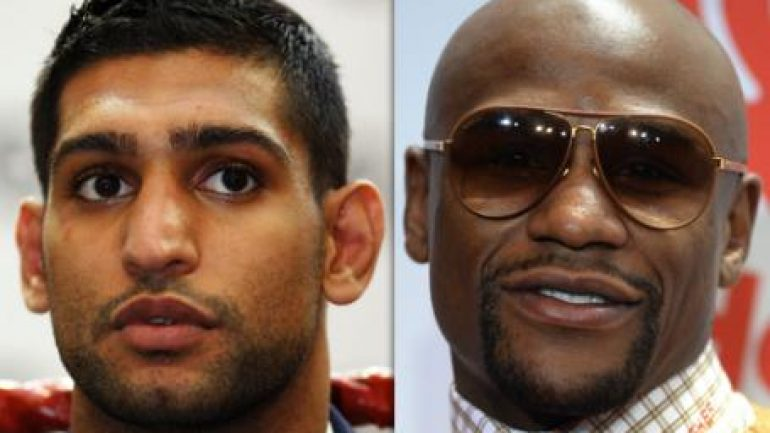 Amir Khan challenges Floyd Mayweather Jr. on Twitter