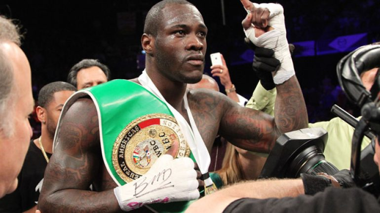 Lem's latest: Deontay Wilder would step aside for $10 million