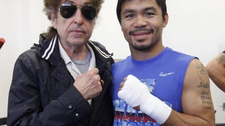 Bob Dylan and Ashanti Visit Manny Pacquiao
