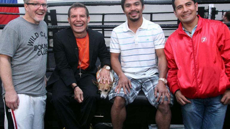 Julio Cesar Chavez Sr., Marco Antonio Barrera visit Manny Pacquiao