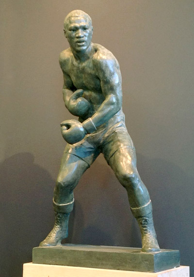 Frazier statue maquette by stephen lang