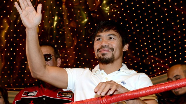 Photo gallery: Manny Pacquiao arrives in Las Vegas for Bradley rematch