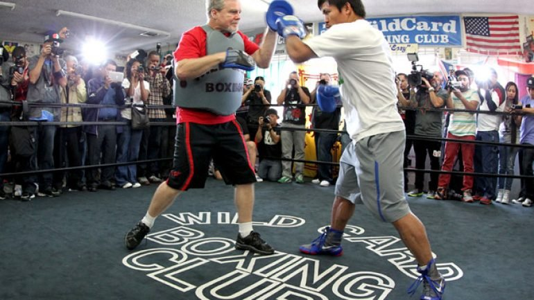 Freddie Roach to Manny Pacquiao: 'In the Bible, there's violence also'
