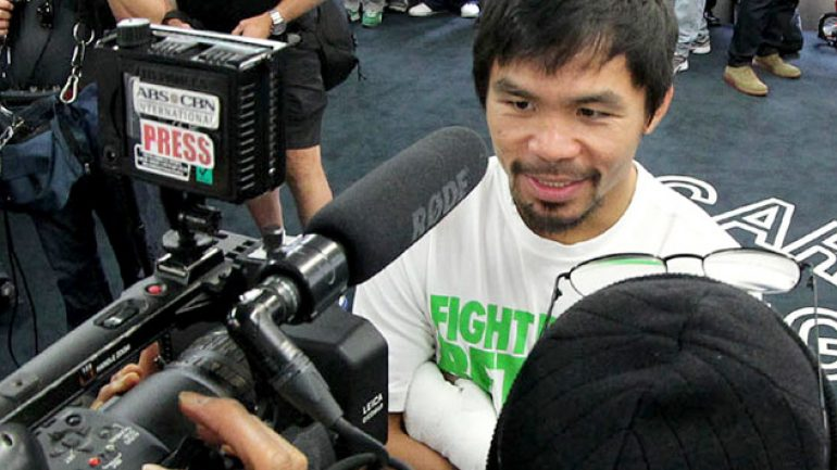 Manny Pacquiao won't try to force a knockout against Tim Bradley