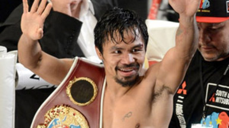 Bob Arum: Manny Pacquiao prospects improve with Golden Boy union