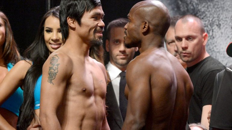 Photo gallery: Tim Bradley-Manny Pacquiao II weigh-in