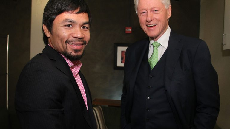 Bill Clinton endorses 'honest role model' Manny Pacquiao on 'Jimmy Kimmel Live'