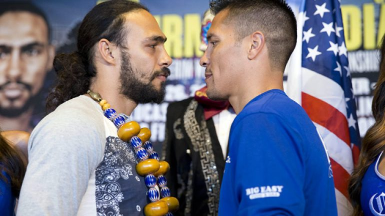 Weigh-in result: Thurman, 145.5; Diaz, 146.75; Matthysse, 140; Molina, 139.25