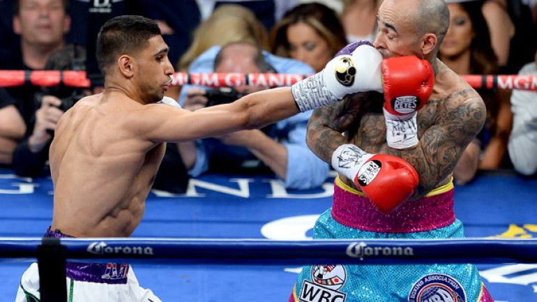 Amir Khan gets back into Mayweather sweepstakes with Collazo win