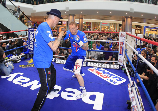 George-Groves-public-workout-Matchroom-Boxing