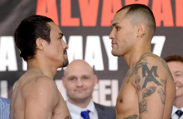 Juan-Manuel-Marquez-Mike-Alvarado-weighin-facing-fukuda