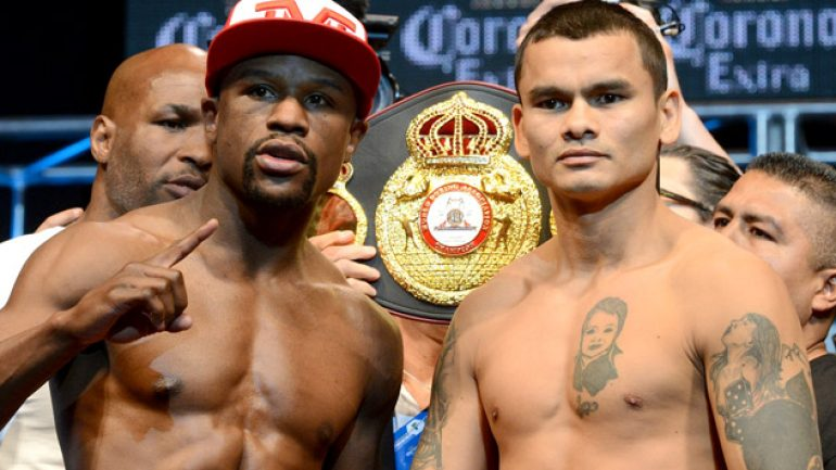 Photo gallery: Floyd Mayweather Jr. vs. Marcos Maidana weigh-in