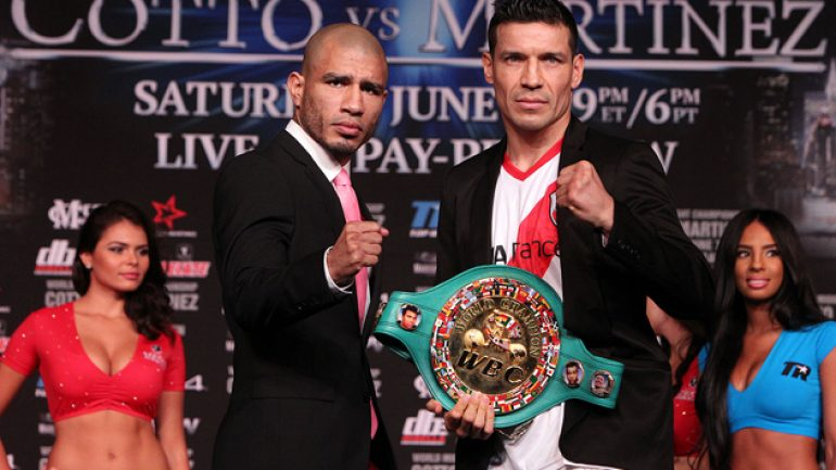 No more words for Cotto, Martinez, but their teams are still talking