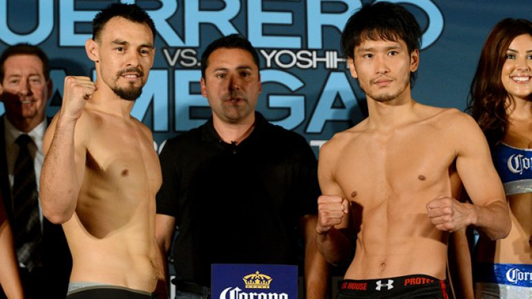 Weigh-in results for Saturday's Showtime tripleheader