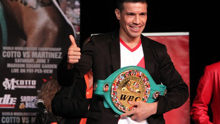 Advisor: Sergio Martinez has Sept. 16 date with orthopedist