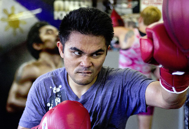 Brian Viloria trains at the Wild Card Boxing Club for his July 19 fight against Jose Zuniga. Photo by Mikey Williams/Top Rank.