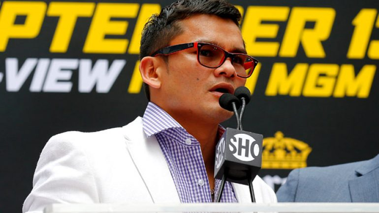 Marcos Maidana vows to beat up, knock out Floyd Mayweather Jr.