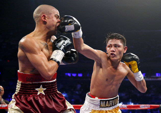 Marvin Sonsona vs W Vazquez rich schultz getty - Youth is king: The youngest men to win world titles