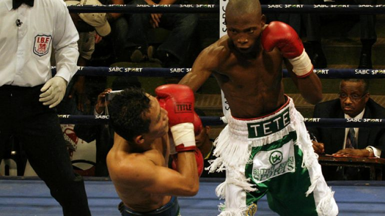 Zolani Tete to face Paul Butler on March 6