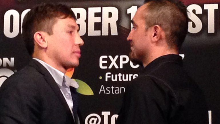 Gennady Golovkin, Marco Antonio Rubio participate in 30-day weigh-in