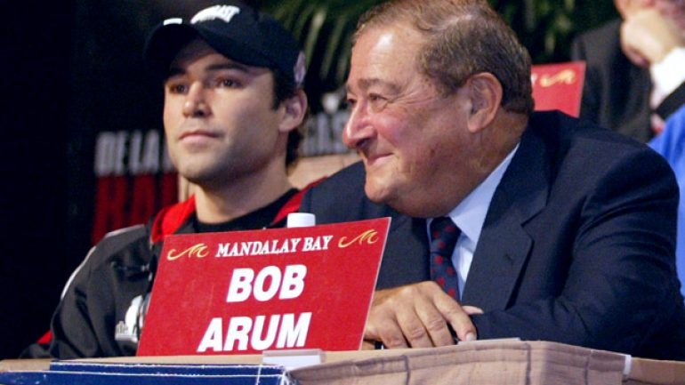 Bob Arum and Oscar De La Hoya to be featured on 'The Fight Game' Sept. 16