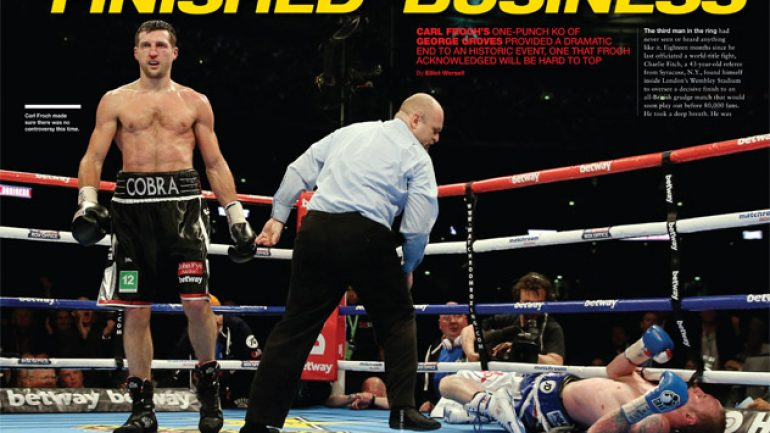 From THE RING Magazine: Finished business
