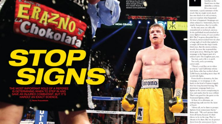 From THE RING Magazine: Stop signs