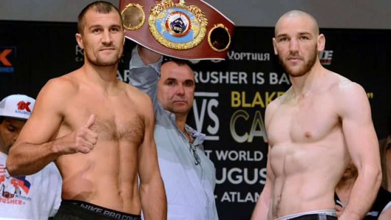Photo gallery: Sergey Kovalev-Blake Caparello weigh-in