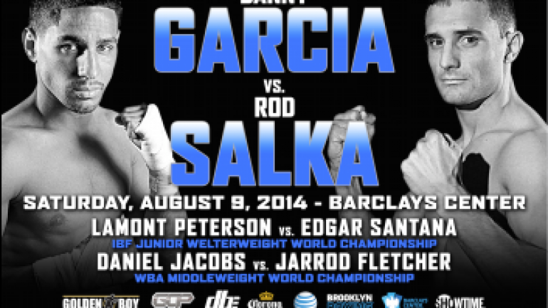 Garcia weighs in at 141.75, Salka 141, for non-title bout