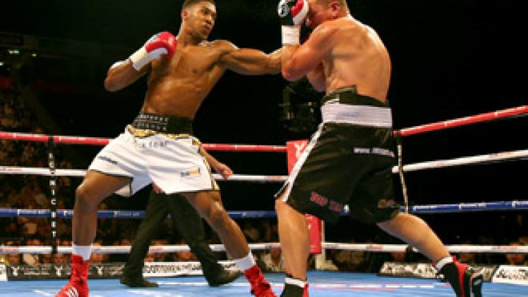 Anthony Joshua to face Kevin Johnson in January