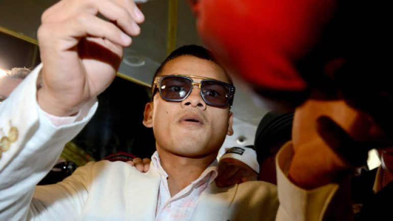 Photo gallery: Floyd Mayweather Jr.-Marcos Maidana II Grand arrivals