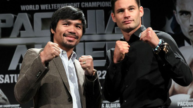 Wiser and wearier, Chris Algieri and Manny Pacquiao near the finish line
