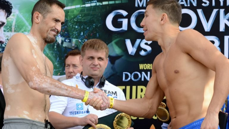 Photo gallery: Gennady Golovkin- Marco Antonio Rubio weigh-in