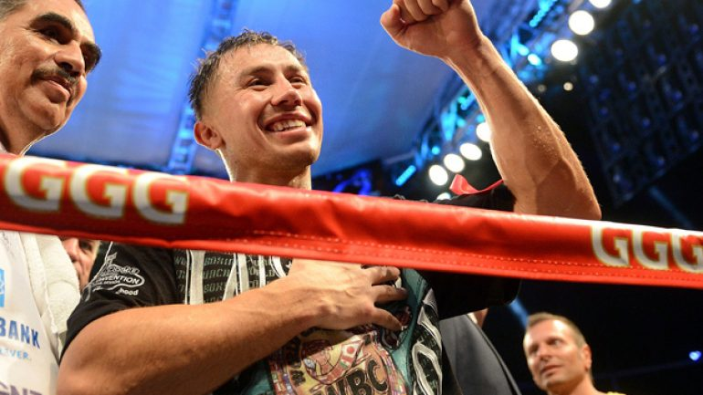 No glitz, no glamour, all Golovkin