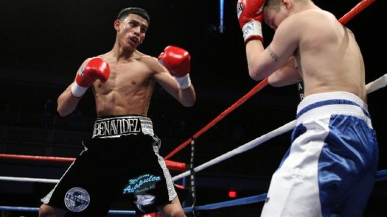 Jose Benavidez Jr. stops Jorge Paez Jr. in 12th round