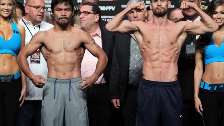 Chris Algieri misses, then makes catchweight for Pacquiao showdown