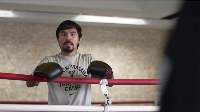 Manny Pacquiao commercial riffs Floyd Mayweather Jr.
