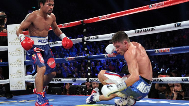 Manny Pacquiao puts Chris Algieri down six times, cruises to victory
